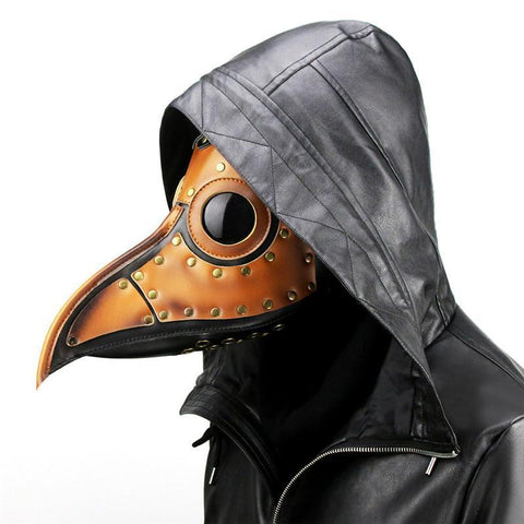 PU Leather Plague Doctor Mask