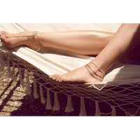 Gold Color Multilayer Chain Anklet - Go Steampunk