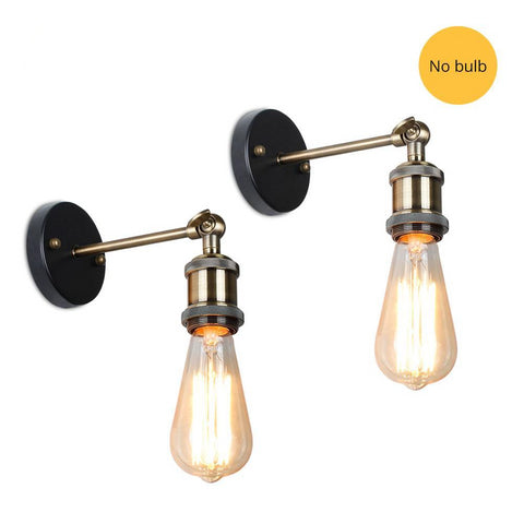 Industrial Vintage Wall Lamp Set 2 Pcs No lampshade / China - Go Steampunk