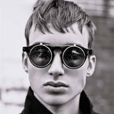 Classic Double Layer Clamshell Retro Sunglasses