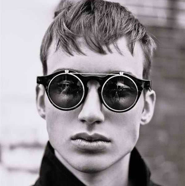 Classic Double Layer Clamshell Retro Sunglasses - Go Steampunk