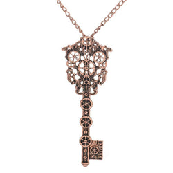 Key pendant steampunk fashion necklace