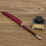 Swan Feather Quill Antique Fountain Pen Writing Set