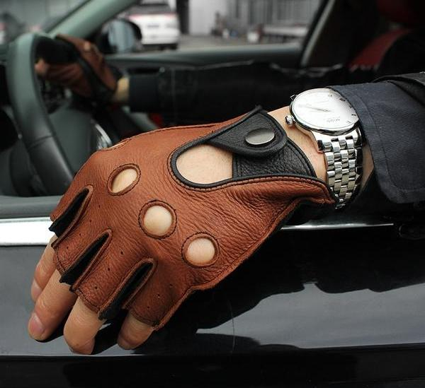 Fingerless 100% Deerskin Gloves