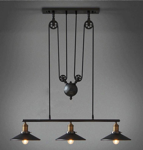 Iron Pulley Lamp Bar