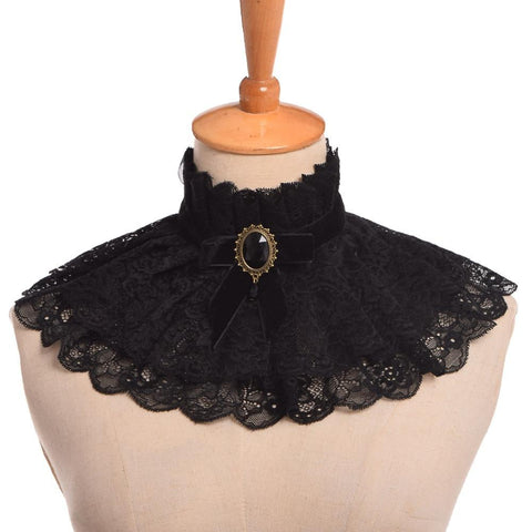 Steam Punk Lace Neck Ruff
