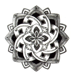Lotus Flower Waterproof Temporary Tattoo