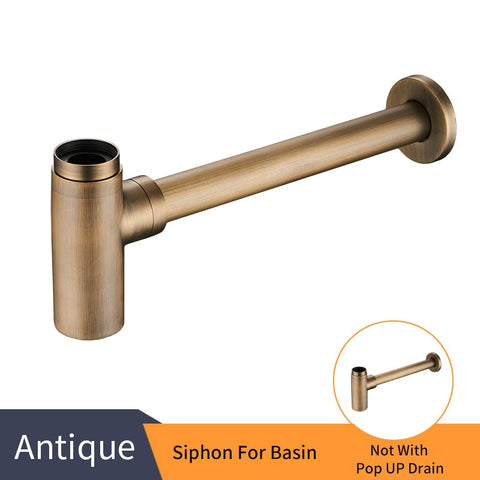 Luxury Rubbed Bronze P Trap With Pop Up Drain