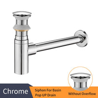 Luxury Rubbed Bronze P Trap With Pop Up Drain Chrome C - Go Steampunk