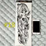 Waterproof 3d Arm Sleeve Temporary Tattoo 18 - Go Steampunk
