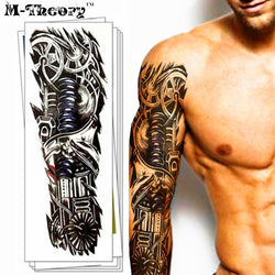 Waterproof 3d Arm Sleeve Temporary Tattoo - Go Steampunk