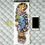 Waterproof 3d Arm Sleeve Temporary Tattoo 3 - Go Steampunk