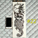 Waterproof 3d Arm Sleeve Temporary Tattoo 22 - Go Steampunk