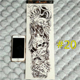 Waterproof 3d Arm Sleeve Temporary Tattoo 20 - Go Steampunk