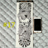 Waterproof 3d Arm Sleeve Temporary Tattoo 17 - Go Steampunk
