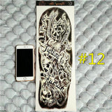 Waterproof 3d Arm Sleeve Temporary Tattoo 12 - Go Steampunk