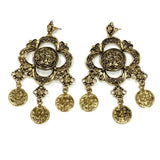 Big Floral Statement Earrings