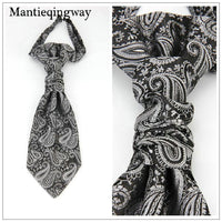 Classic Polyester Double Neck Tie silver grey - Go Steampunk