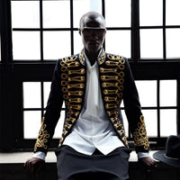 Gold Embroidery European Military Style Jacket - Go Steampunk