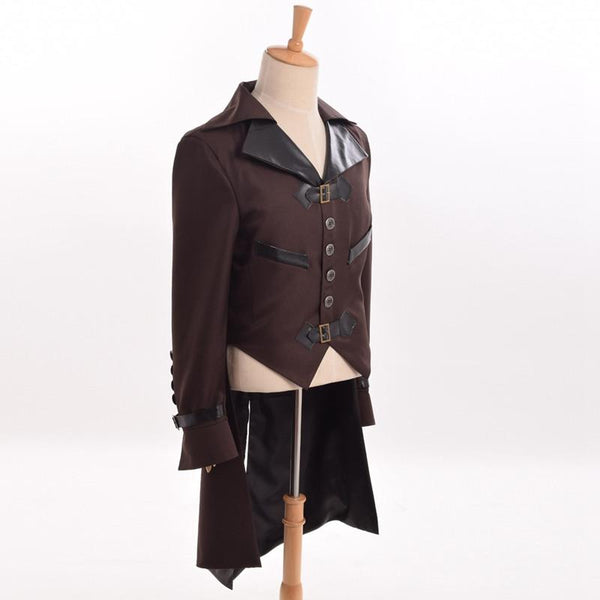 Men's Victorian Steampunk Swallow-tailed Coat