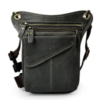 Crazy Horse Genuine Leather Drop Leg Bag - Go Steampunk