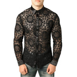 Men's Lace Shirt Pattern 2 / S - Go Steampunk