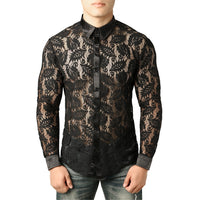 Men's Lace Shirt Pattern 3 / S - Go Steampunk