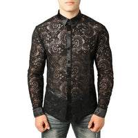 Men's Lace Shirt Pattern 1 / S - Go Steampunk