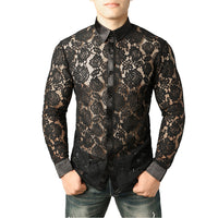 Men's Lace Shirt Pattern 4 / S - Go Steampunk