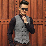 Mens Brown Double Breasted Vest - Go Steampunk