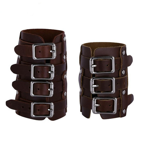 Steampunk Faux Leather Adjustable Gauntlet