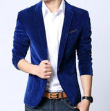 Men's Velvet Blazer light blue / M - Go Steampunk