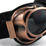 Retro Vintage Copper PU Leather Aviator Goggles