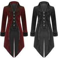 Velvet Embroidered Gentleman's Tailcoat and Vest Combo - Go Steampunk