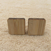 Geometry Wooden Men's Cufflinks square cufflink - Go Steampunk