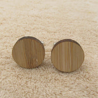 Geometry Wooden Men's Cufflinks circle cufflink - Go Steampunk