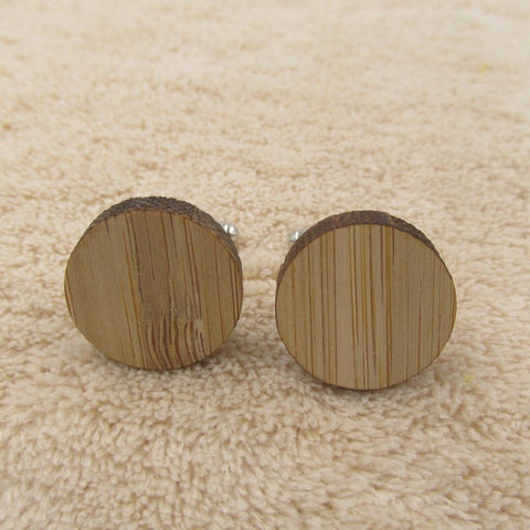Geometry Wooden Men's Cufflinks