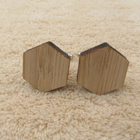 Geometry Wooden Men's Cufflinks Hexagon cufflink - Go Steampunk