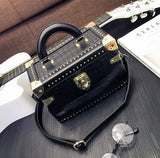 Vintage Personality Box Handbag With Rivets