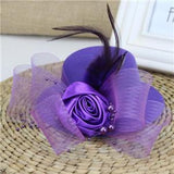 Feather and Flower Fascinator