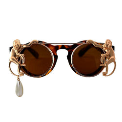 Gold Monkey Luxury Pearl Sunglasses - Go Steampunk