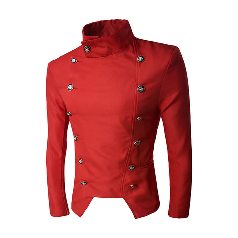 Double Breasted Jacket YX311 red / M - Go Steampunk