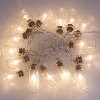 Glass Jar String Lights with 20 LED Lights - Go Steampunk