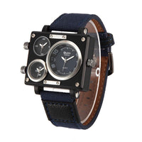 Luxury Multiple Time Zone Square Watch Dials all black - Go Steampunk