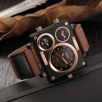 Luxury Multiple Time Zone Square Watch - Go Steampunk