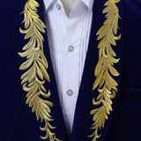 Suede Embroidered Double-breasted Jacket - Go Steampunk