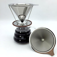 Stainless steel reusable V-type coffee filter - Go Steampunk