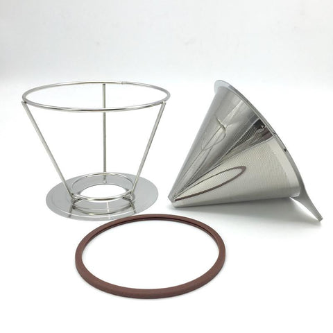 Stainless steel reusable V-type coffee filter