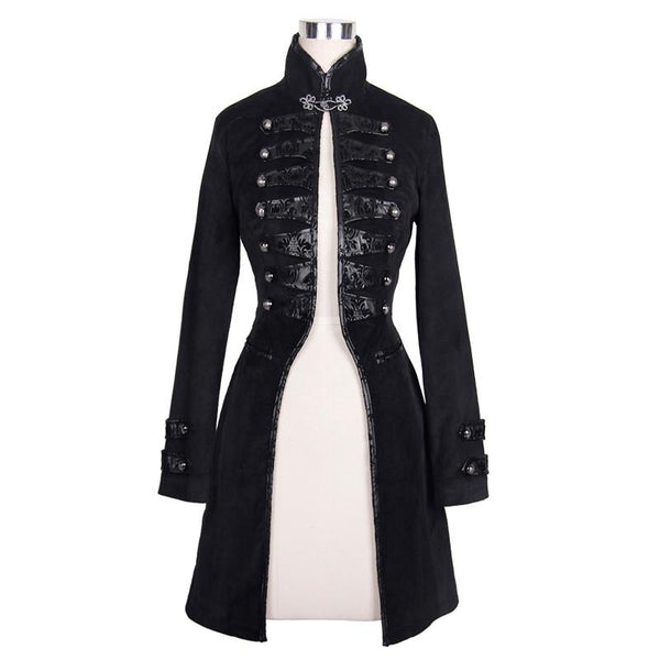 Women's Steampunk Flocking Coat - Go Steampunk