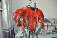 Red feather cape/capelet - Go Steampunk